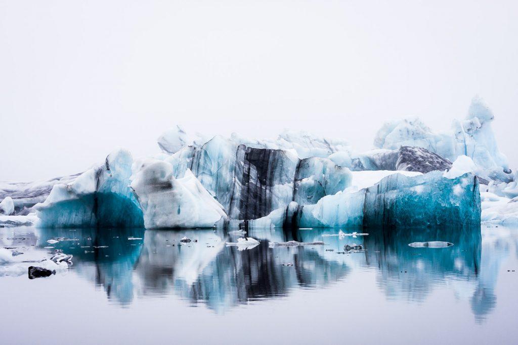 Gletscherlagune Island Winter