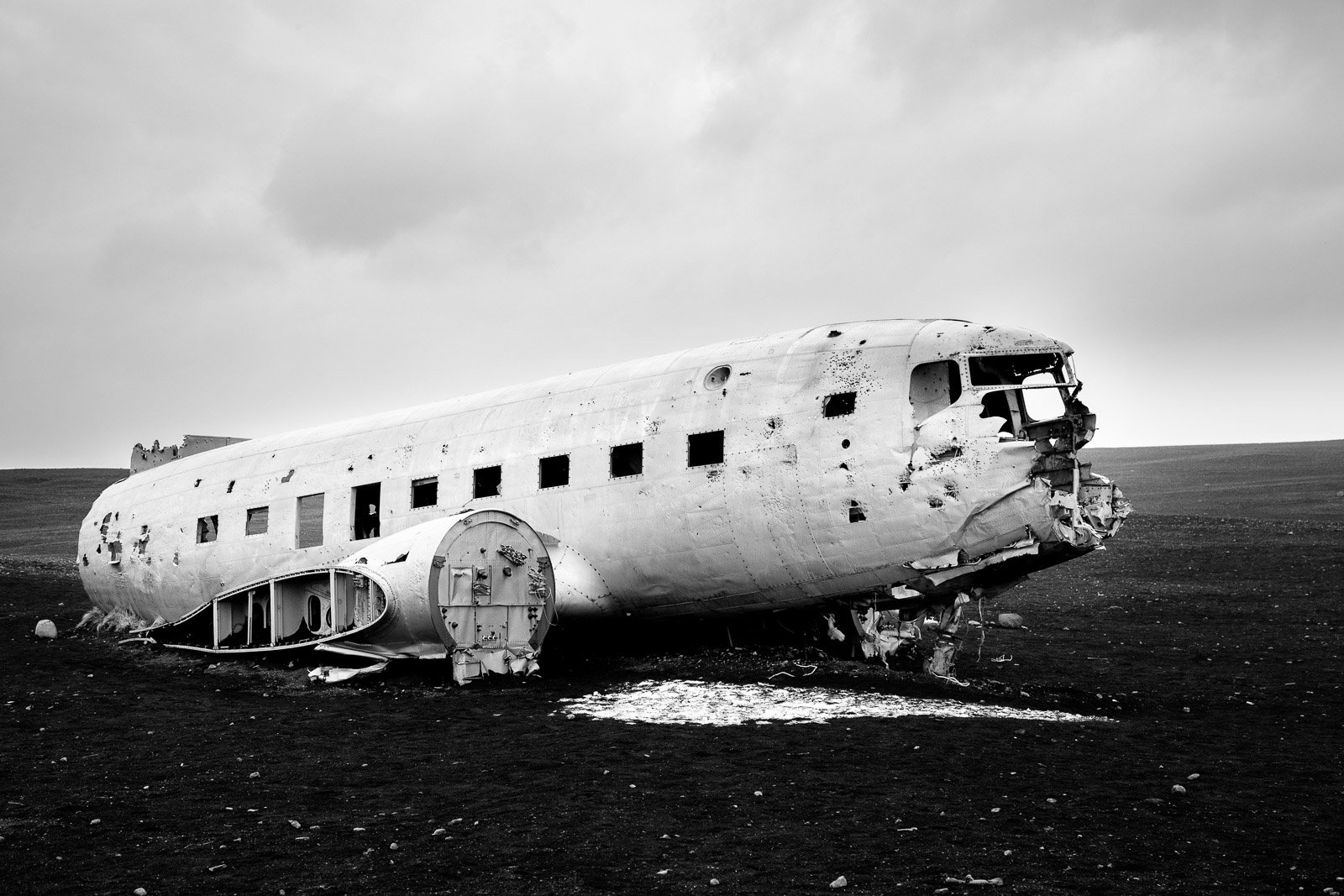 Island Flugzeugwrack