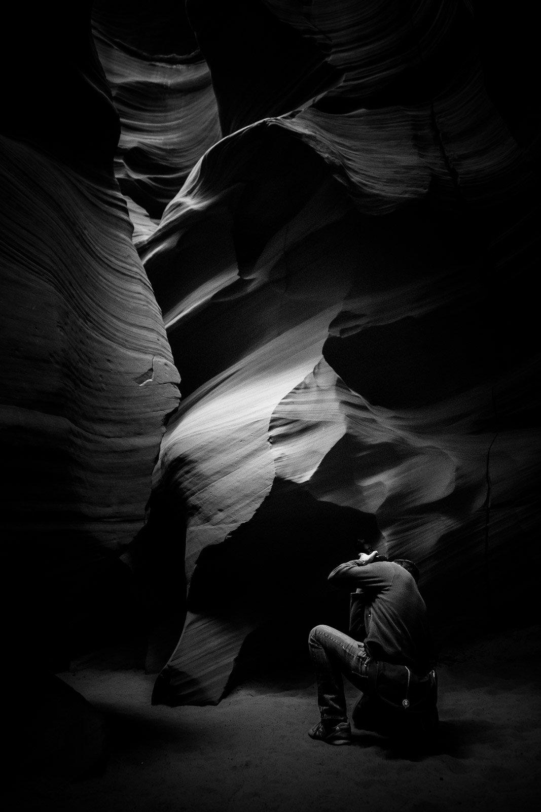 Fotograf im Canyon X