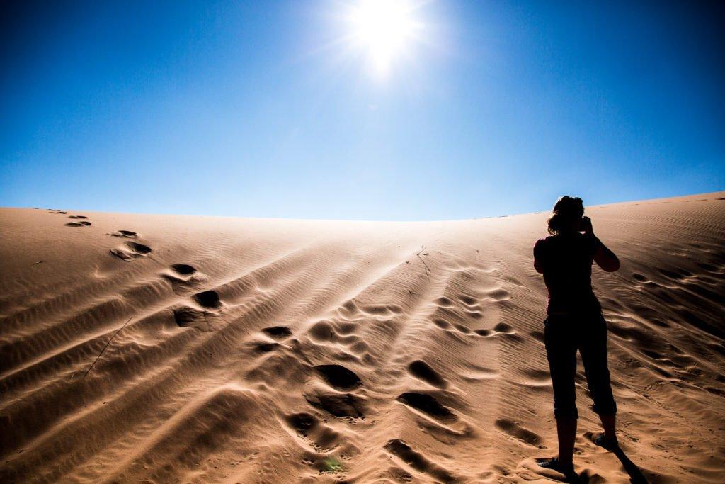 Pink Coral Sand Dunes Wüste