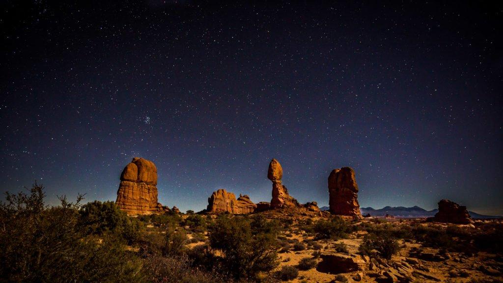 Nachtfotografie Wüste