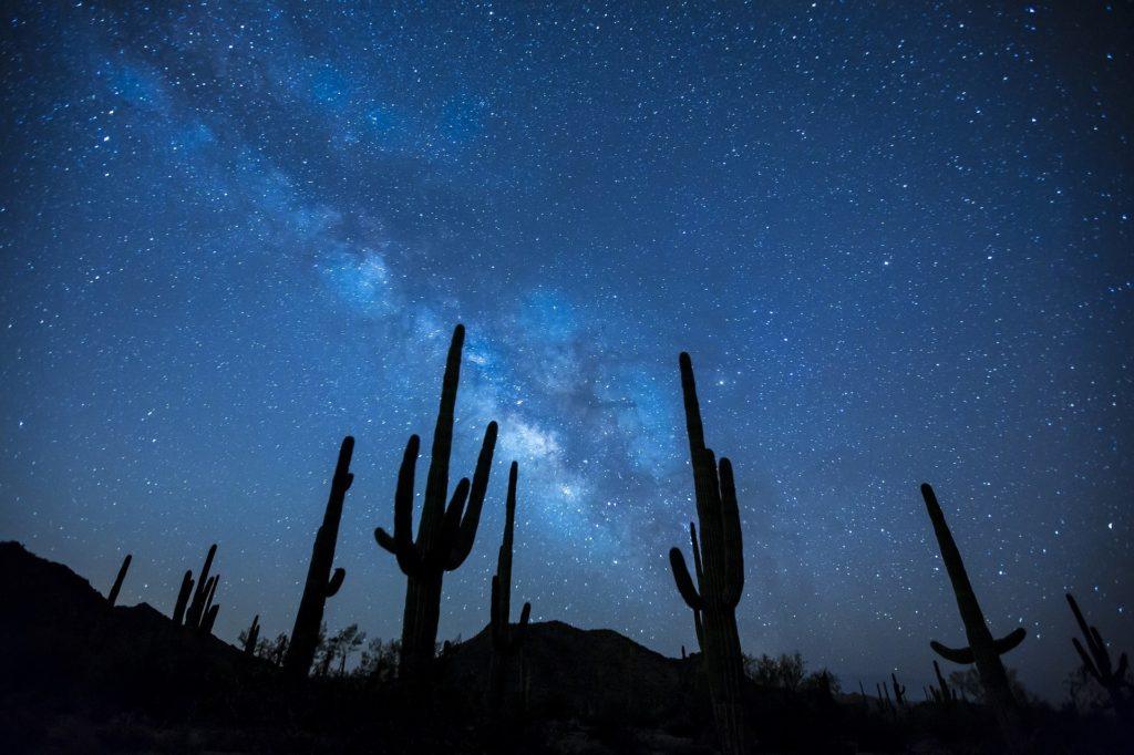 Milchstraße über der Wüste
