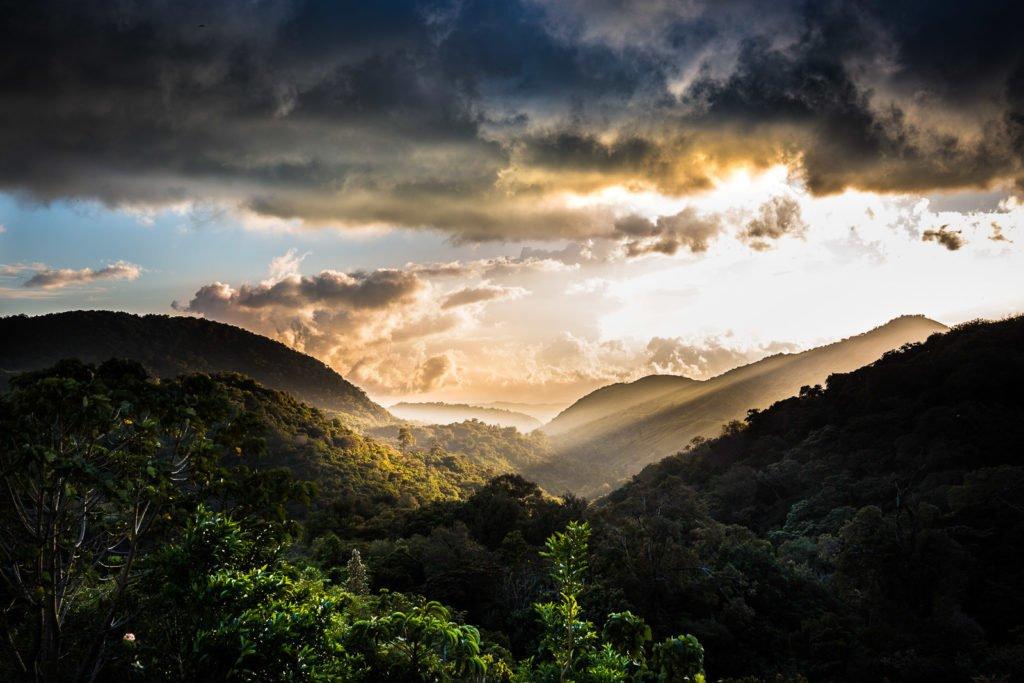 Sonnenaufgang über dem Dschungel