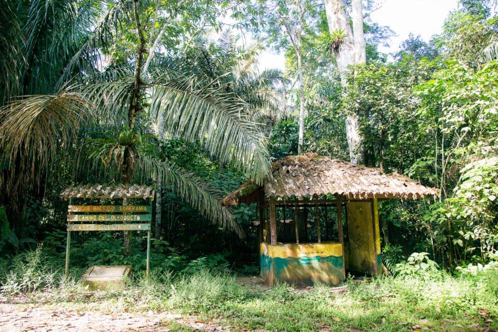 Verlassenes Eintrittshäuschen zur Pipeline Road im Soberania Nationalpark